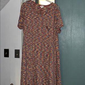 LuLaRoe Dresses - LuLaRoe Large Carly Multi-Colored Heathered